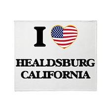 I love Healdsburg California USA Des Throw Blanket