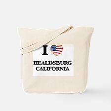 I love Healdsburg California USA Design Tote Bag