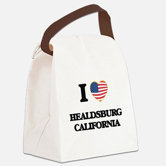 I love Healdsburg California USA Canvas Lunch Bag