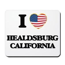 I love Healdsburg California USA Design Mousepad