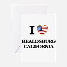 I love Healdsburg California USA De Greeting Cards