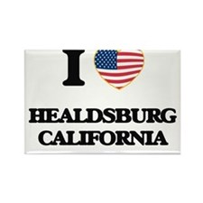 I love Healdsburg California USA Design Magnets
