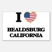 I love Healdsburg California USA Design Decal
