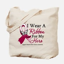 Head Neck Cancer Ribbon Tote Bag