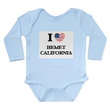 I love Hemet California USA Design Body Suit