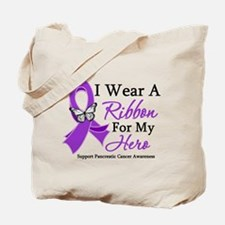 Pancreatic Cancer Ribbon Tote Bag