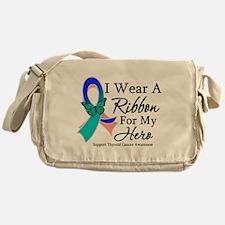 Thyroid Cancer Ribbon Messenger Bag