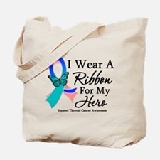 Thyroid Cancer Ribbon Tote Bag