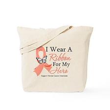 Uterine Cancer Ribbon Tote Bag