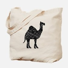Distressed Camel Silhouette Tote Bag