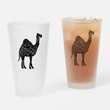 Distressed Camel Silhouette Drinking Glass