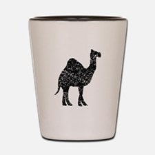 Distressed Camel Silhouette Shot Glass