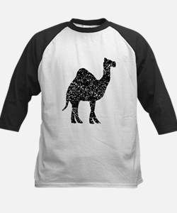 Distressed Camel Silhouette Baseball Jersey
