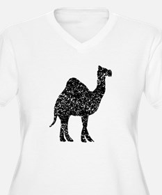 Distressed Camel Silhouette Plus Size T-Shirt