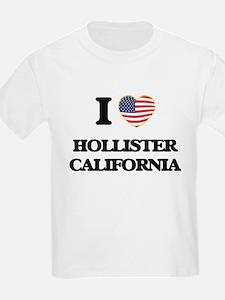 I love Hollister California USA Design T-Shirt