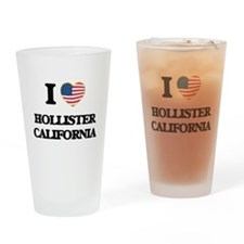 I love Hollister California USA Des Drinking Glass