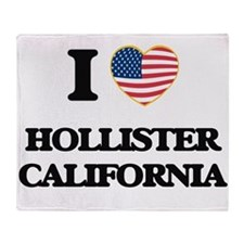 I love Hollister California USA Desi Throw Blanket