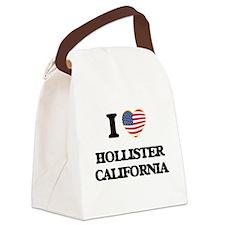 I love Hollister California USA D Canvas Lunch Bag