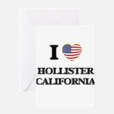 I love Hollister California USA Des Greeting Cards