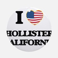 I love Hollister California USA D Ornament (Round)