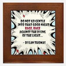 Do Not Go Gentle Framed Tile
