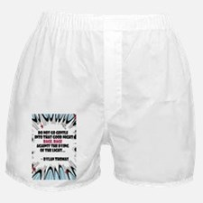 Do Not Go Gentle Boxer Shorts
