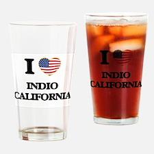 I love Indio California USA Design Drinking Glass