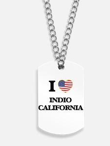 I love Indio California USA Design Dog Tags