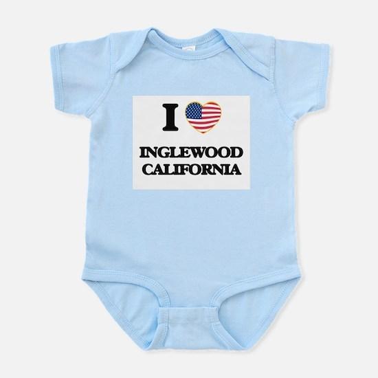 I love Inglewood California USA Design Body Suit