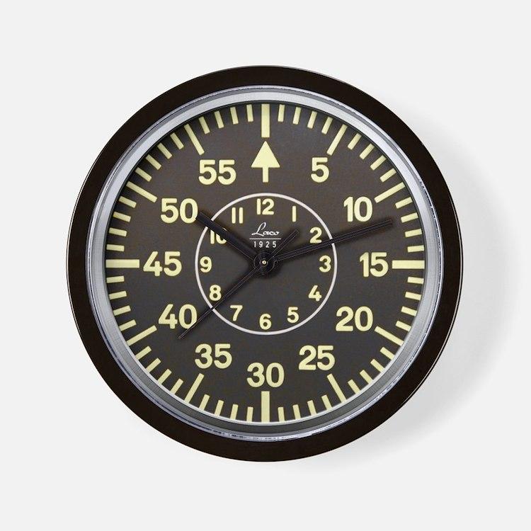 Luftwaffe Pilot Wwii Timekeeper Wall Clock