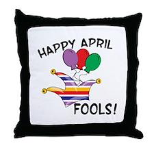 Happy April Fools Throw Pillow