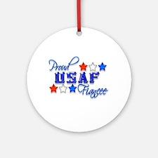 USAF Fiancee Ornament (Round)