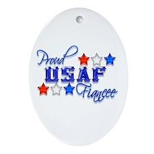 USAF Fiancee Oval Ornament