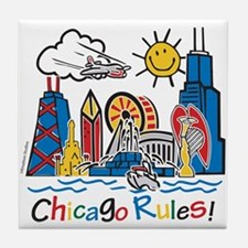 Chicago Rules Tile Coaster