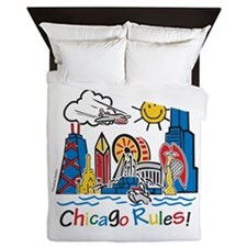 Chicago Rules Queen Duvet