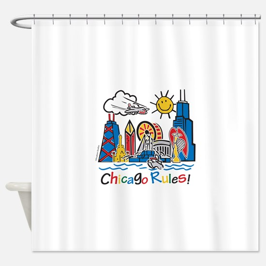 Chicago Rules Shower Curtain