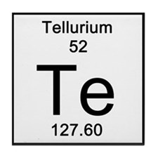periodic table tellurium coasters cork puzzle tile