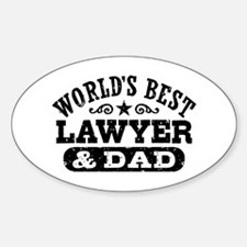 World's Best Lawyer and Dad Decal