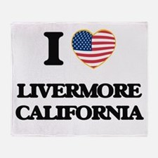 I love Livermore California USA Desi Throw Blanket