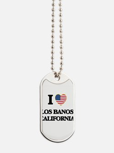 I love Los Banos California USA Design Dog Tags