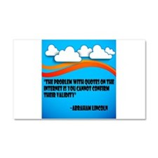 Problem with quotes on the internet Car Magnet 20