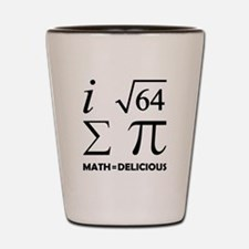 Math=Delicious Shot Glass