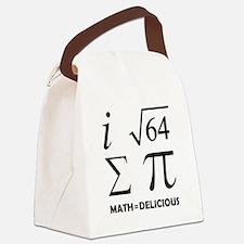 Math=Delicious Canvas Lunch Bag