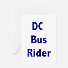 DC Bus Rider Greeting Card