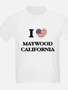 I love Maywood California USA Design T-Shirt