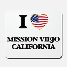 I love Mission Viejo California USA Desi Mousepad