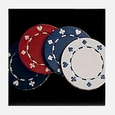 Cute Poker game Tile Coaster