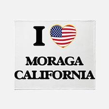 I love Moraga California USA Design Throw Blanket