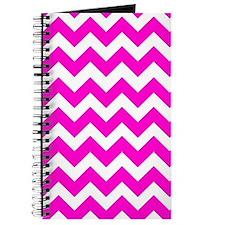 Chevron Fluorescent Hot Pink Journal