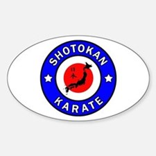 Karate Sticker (Oval)
